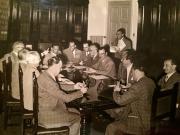 La firma dell'atto costitutivo (anno 1955). Si riconoscono:Danilo Verzili, Mario Verdone, Raffaele Ciabattini